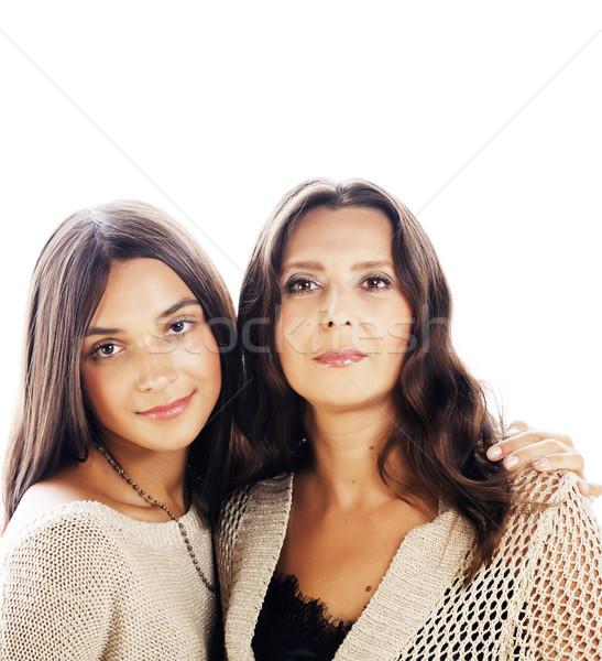 Cute dość teen córka dojrzały matka Zdjęcia stock © iordani