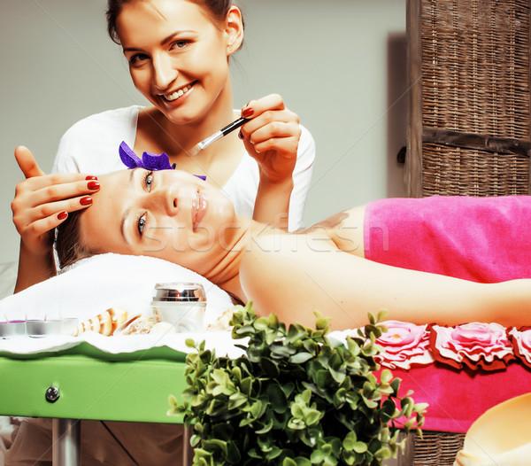 Stok fotoğraf çekici bayan terapi salon Stok fotoğraf © iordani