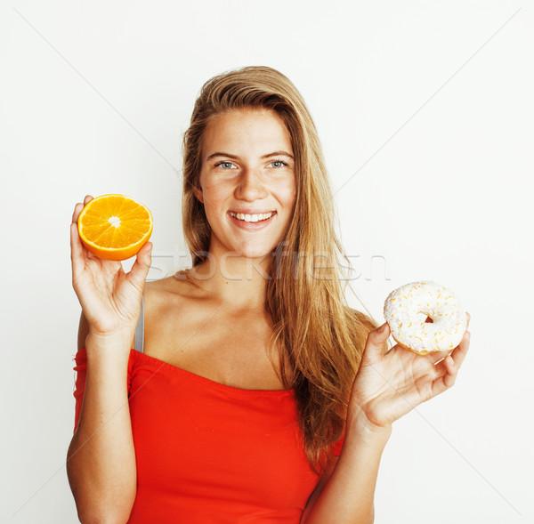 Młodych pączek pomarańczy odizolowany Zdjęcia stock © iordani
