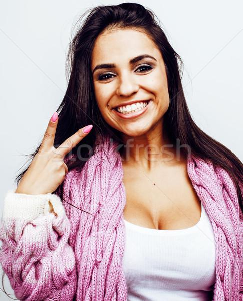 Сток-фото: молодые · счастливым · улыбаясь · американский