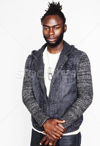 молодые красивый афро американский мальчика Сток-фото © iordani
