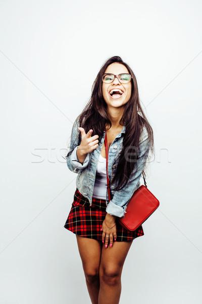 Jeunes heureux souriant adolescente émotionnel Photo stock © iordani