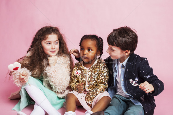 lifestyle people concept: diverse nation children playing togeth Stock photo © iordani