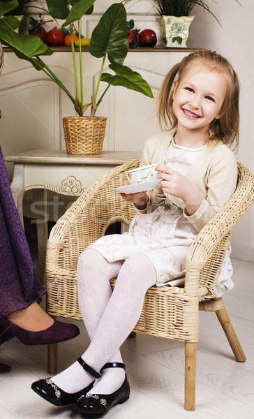 かわいい ブロンド ヨーロッパの 少女 演奏 ストックフォト © iordani