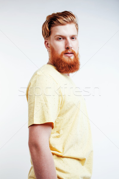 小さな ハンサム ヒップスター 生姜 あごひげを生やした 男 ストックフォト © iordani