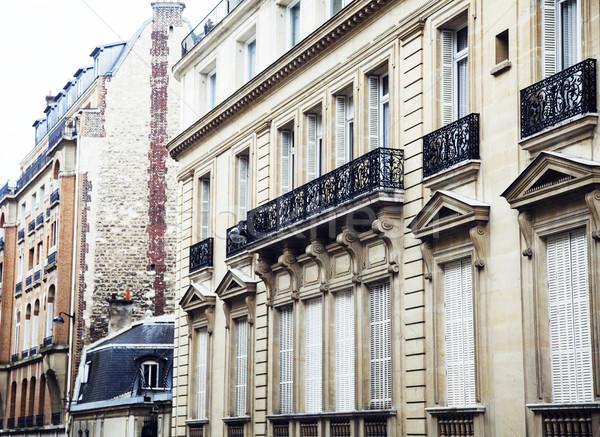 домах французский улиц Париж черный балкона Сток-фото © iordani