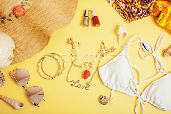 Seyahat renkli mavi sarı kimse Stok fotoğraf © iordani