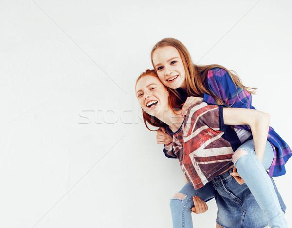 Лучшие друзья вместе позируют Сток-фото © iordani