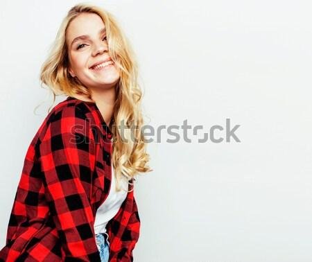 Jóvenes bastante nina posando Foto stock © iordani