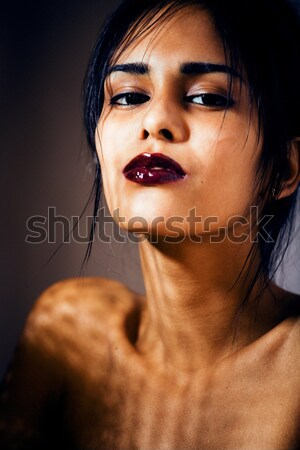 beauty latin young woman in depression, hopelessness look Stock photo © iordani