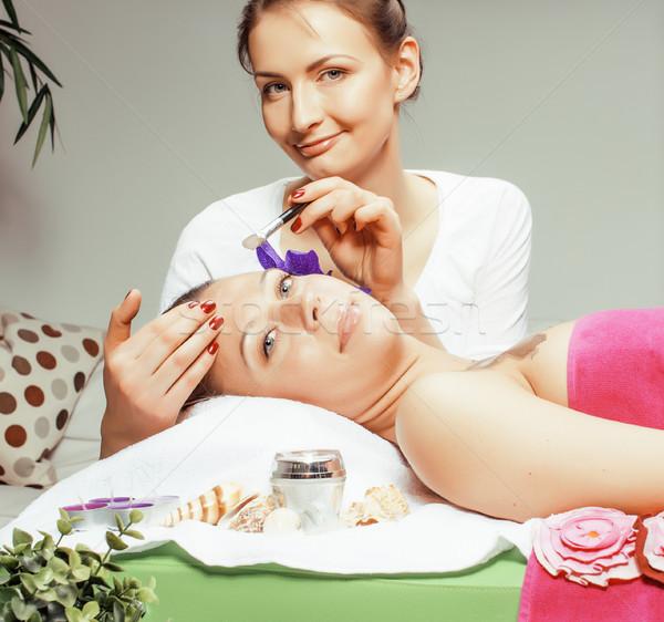 stock photo attractive lady getting spa treatment in salon, healthcare people concept Stock photo © iordani
