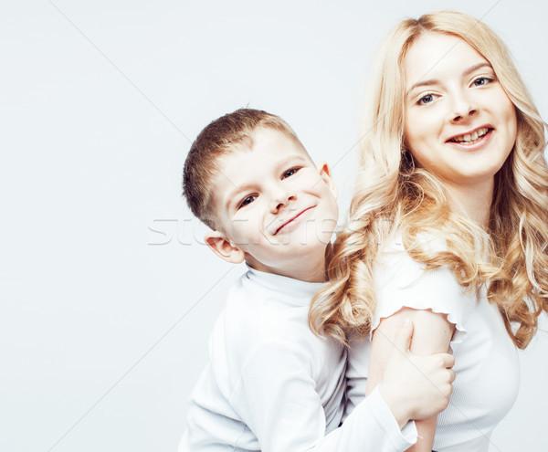 Jóvenes moderna rubio rizado madre cute Foto stock © iordani