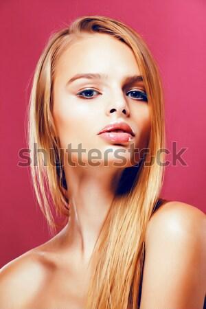 Sensual jovem real mulher preto meia-calça Foto stock © iordani