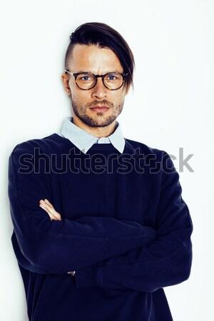 Jeunes élégant adolescent Guy posant Photo stock © iordani
