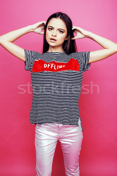 Tineri Destul De Femeie Prezinta Imagine De Stoc Iun Iuliia Iordani 7817598