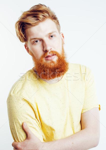 Giovani bello zenzero barbuto ragazzo Foto d'archivio © iordani