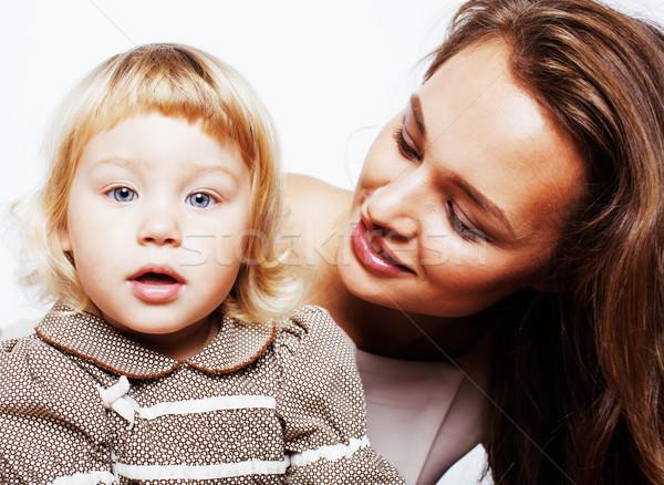 Сток-фото: молодые · довольно · матери · мало · Cute