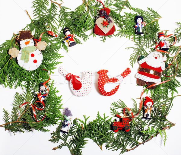 クリスマス 装飾 孤立した 白 ポスト カード ストックフォト © iordani