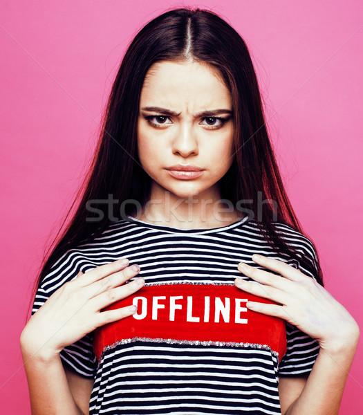 молодые довольно женщину позируют Сток-фото © iordani