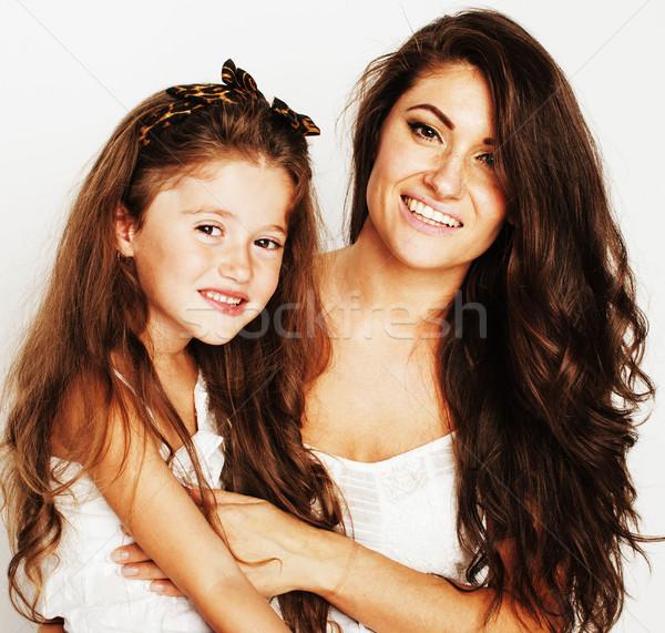 Giovani madre piccolo cute figlia Foto d'archivio © iordani