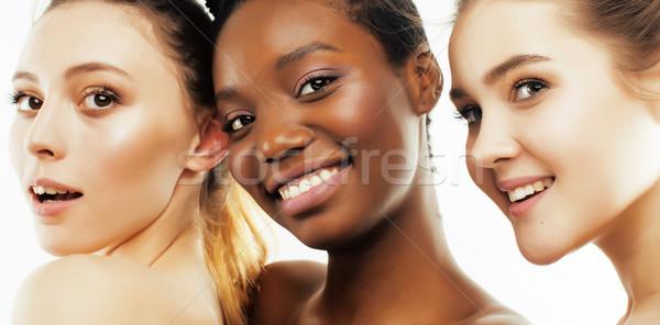 Trzy inny naród kobieta wraz Zdjęcia stock © iordani