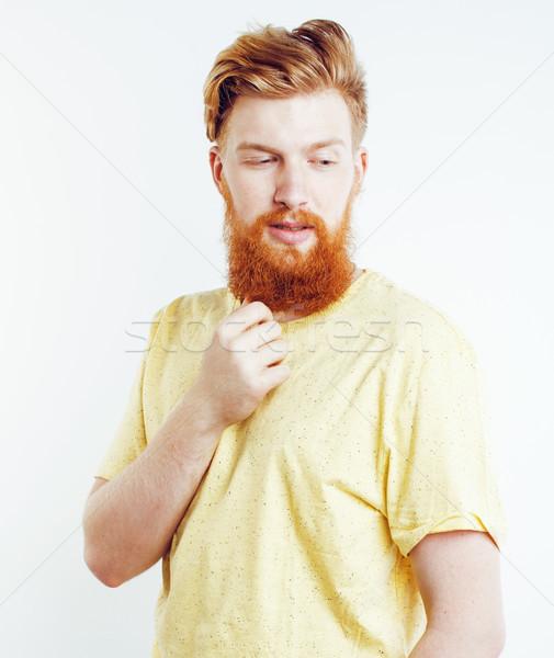 Portrait jeunes barbu Guy souriant Photo stock © iordani
