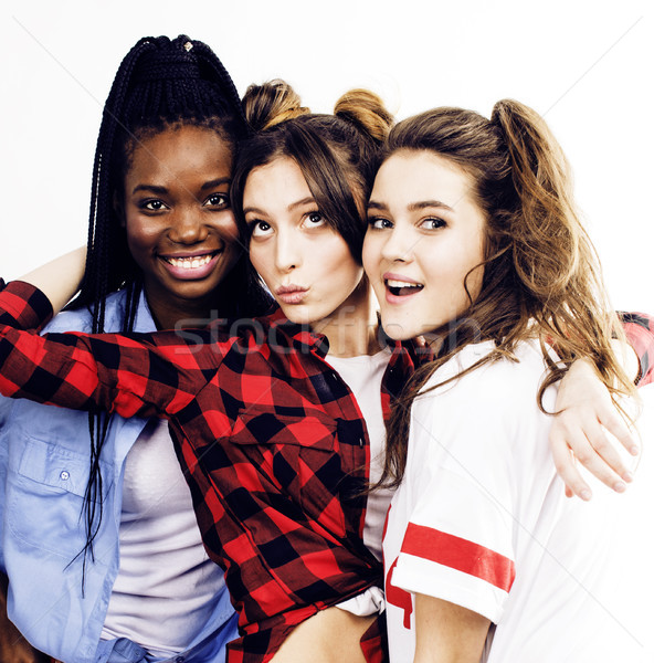 Nation filles groupe adolescent amis Photo stock © iordani