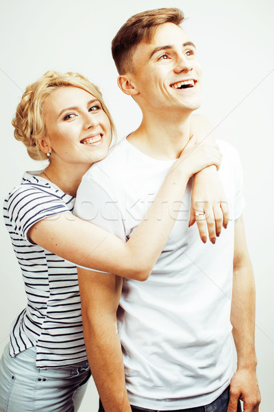 Genç güzel çift adam Stok fotoğraf © iordani