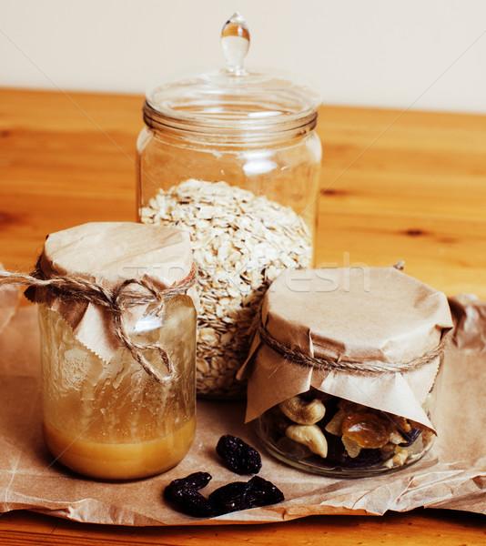 Real conforto cozinha café da manhã ingredientes Foto stock © iordani