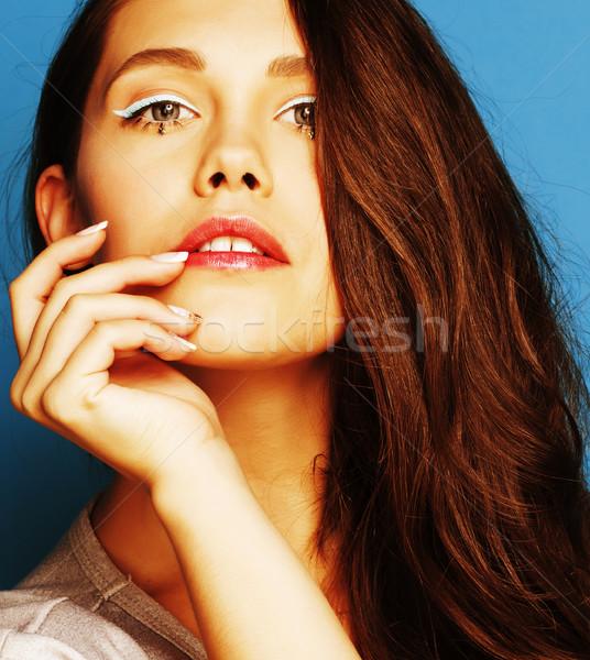 Jovem bastante adorável mulher doce Foto stock © iordani