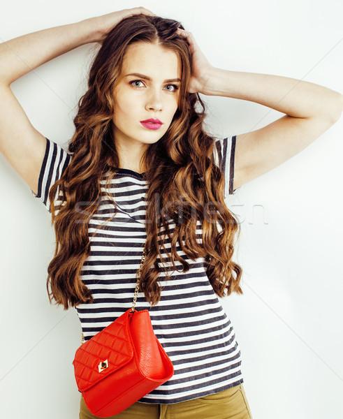Jóvenes mujer bonita pequeño cute bolso posando Foto stock © iordani