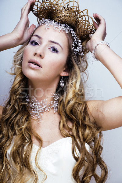 красоту молодые снега королева фея волос Сток-фото © iordani