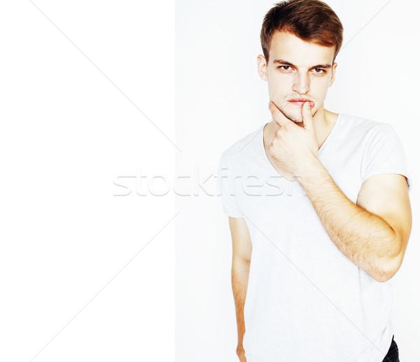 Jóvenes guapo tipo posando Foto stock © iordani