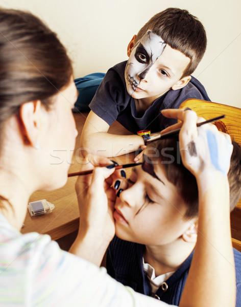 Drăguţ copil zombie Imagine de stoc © iordani
