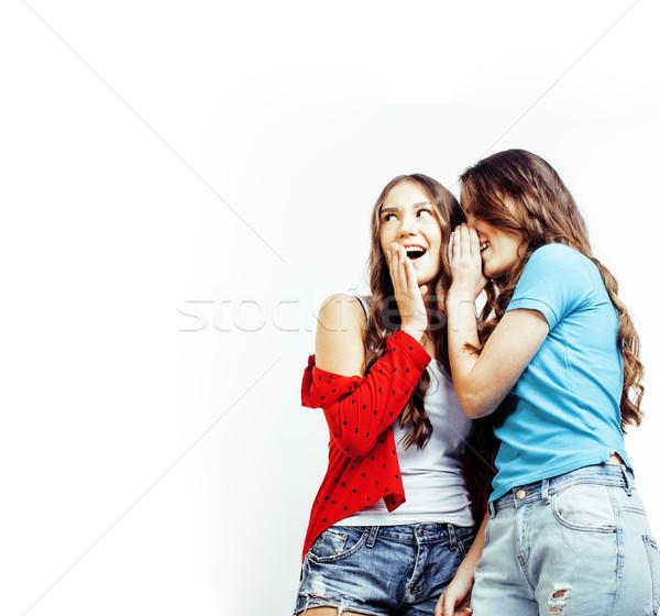 Legjobb barátok tinilányok együtt szórakozás pózol érzelmes Stock fotó © iordani