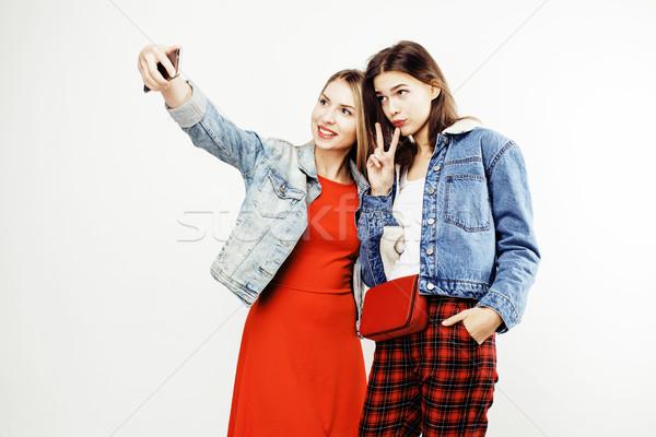 En İyi arkadaşlar birlikte poz Stok fotoğraf © iordani