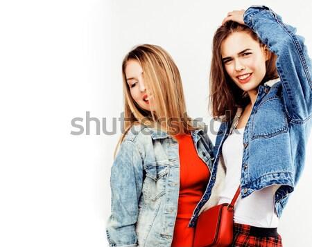 Yaşam tarzı insanlar moda portre iki şık Stok fotoğraf © iordani