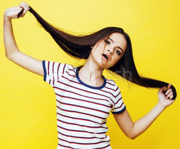 Genç güzel kadın poz Stok fotoğraf © iordani