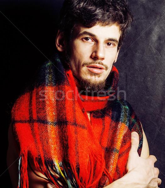 Stock fotó: Portré · jóképű · érett · modern · szakállas · hipszter