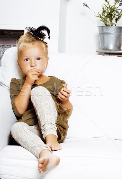 かわいい ブロンド ノルウェーの 少女 演奏 ストックフォト © iordani