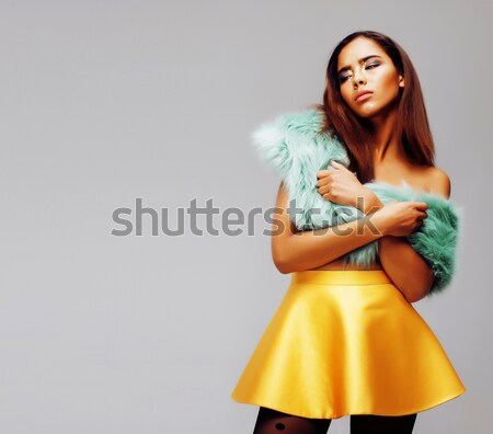 молодые довольно женщину позируют моде Сток-фото © iordani