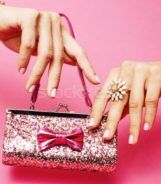 Nina princesa mujer manos pequeño Foto stock © iordani