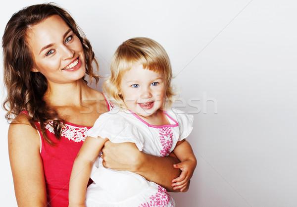 Jovem bastante elegante mãe pequeno bonitinho Foto stock © iordani