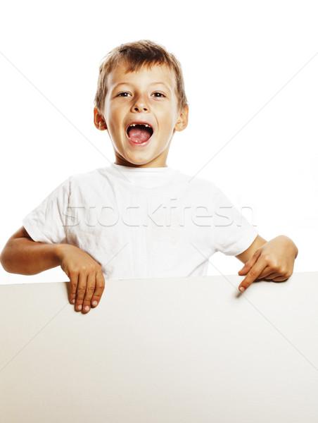 Weinig cute jongen lege shit Stockfoto © iordani