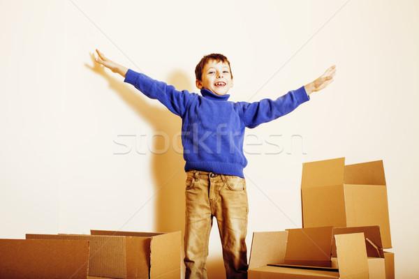 ストックフォト: かわいい · 少年 · の空室 · ホーム