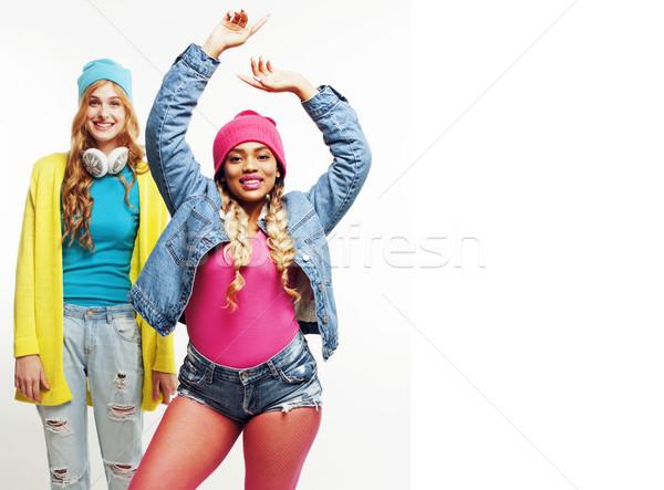 Różnorodny naród dziewcząt grupy dwa Zdjęcia stock © iordani