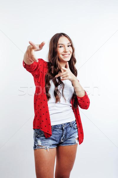 Jovem bastante elegante menina posando Foto stock © iordani