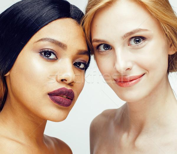 異なる 国家 女性 白人 一緒に 孤立した ストックフォト © iordani