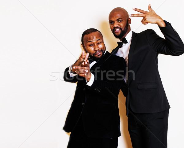 два бизнесменов черный Костюмы позируют Сток-фото © iordani