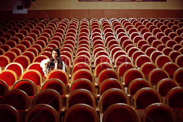 Portrait joli fille film théâtre Photo stock © iordani